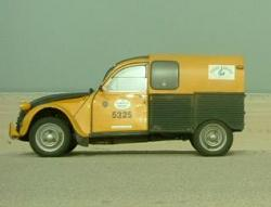 Citroen 2cv on Plymouth-Banjul rally