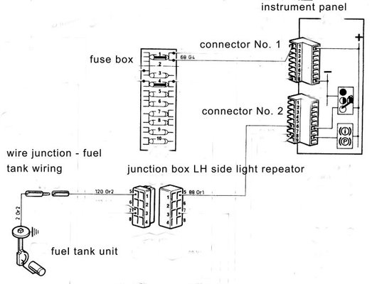 Fuel Gauge Electrical Connection