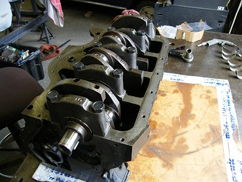 Crankshaft in place