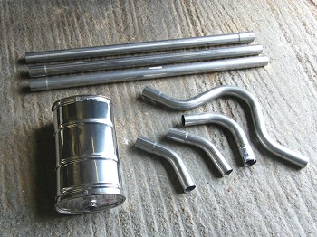 Exhaust pre-bent components