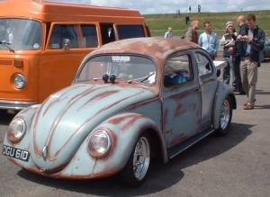 Beetle drag race car