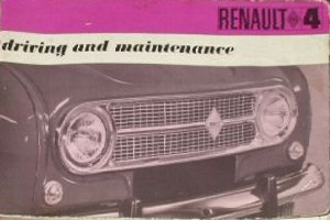 1968 handbook with showing front of Renault 4