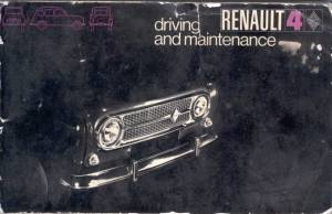 1969  handbook cover with black and white photo of  early car with chrome grille