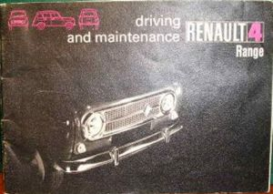 1972  handbook cover with black and white photo of  early car with chrome grille