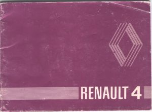 1979 handbook is plain purple with REnault logo and Renault 4 writing
