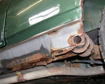 Rust in rear suspension mounting