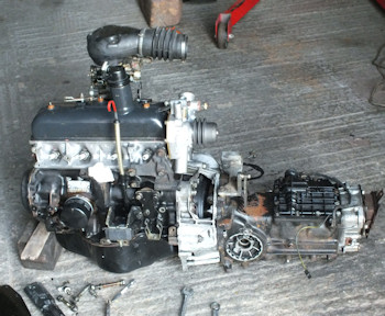 Gearbox attached