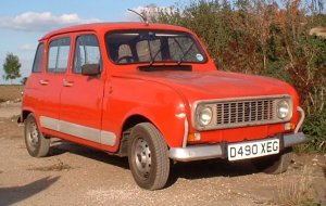 renault 4 from front