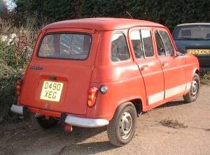 Renault 4 from rear